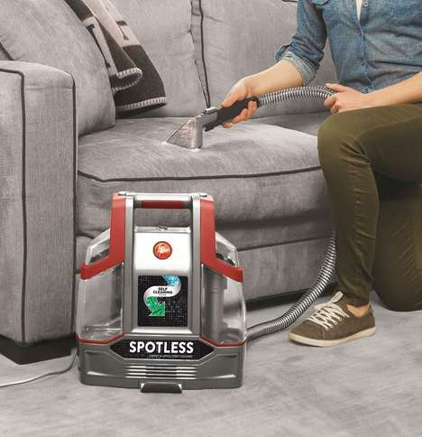 Stain-Removing Vacuum Cleaners - The Hoover Spotless Upholstery Cleaner Sucks Up Spills and Stains