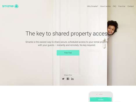 Homeshare Access Systems - 'Smarke' Controls Home Access for Airbnb Users and Shared Properties