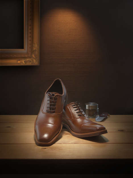 Verisimilar Chocolate Shoes - The 'Gentleman's Radiance' Chocolate Shoes Look Like Brown Leather