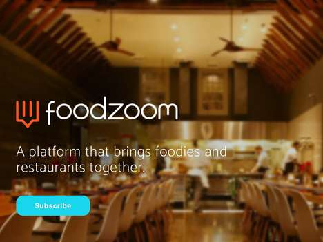 Social Foodie Platforms - The 'FoodZoom' Social Networking Service Connects Foodies and Restaurants