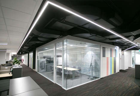 Adaptable Office Interiors - This Office Space Features Dynamic Work Stations for Employees