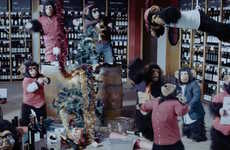 Chimpanzee Christmas Party Ads