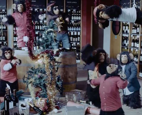 Chimpanzee Christmas Party Ads