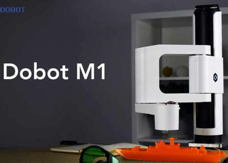 Cost-Effective Robotic Arms - The 'Dobot M1' Manufacturing Arm Prints, Engraves and More
