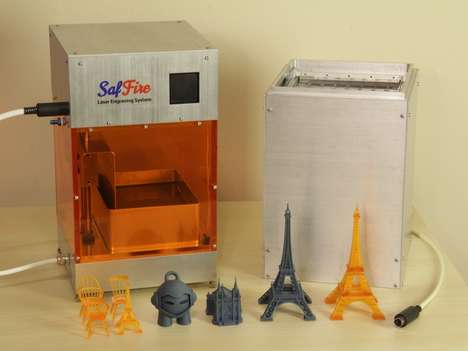 Maintenance-Free 3D Printers - The 'SafFire' 3D Printer and Laser Engraver Creates Seamless Items