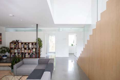 Merged Home Living Spaces - Appareil Architecture Combined Two Montreal Homes for an Original Design