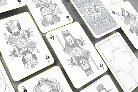 Symbolic Playing Card Designs - 'Whimsical Playing Cards' Reinterpret the Design of the Suits