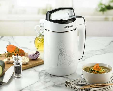 Five-in-One Soup Appliances - The Gourmia Soup Maker Creates Hot or Cold Recipes Automatically