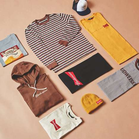 Beer-Branded Streetwear - Budweiser and Been Trill's Winter Clothing Line is Available at PacSun