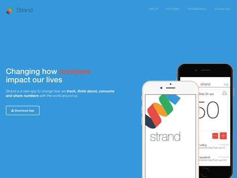 Goal-Tracking Number Apps - 'Strand' is a Social Numbers App for Tracking a Bevy of Different Digits