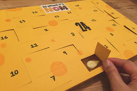 Cheese-Filled Advent Calendars - The Cheese Advent Calendar is Loaded with #CheeseNotChoc