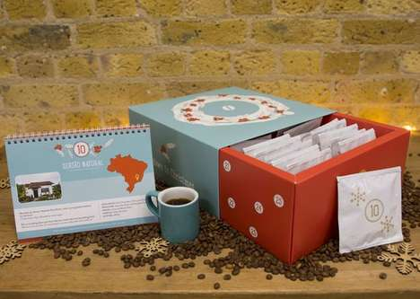 Fair Trade Coffee Calendars - This Advent Calendar for Christmas is Filled with Direct Trade Coffee