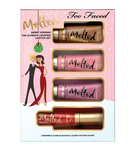 Festive Luxury Lipstick Sets - This 'Too Faced' Package Would Make a Great Gift for Makeup Lovers