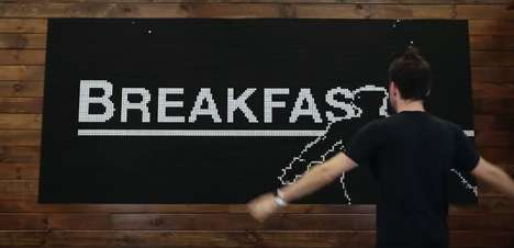Modernized Binary Flip Boards - Breakfast's Flip-Disk Display System is a Modern Office Decor Option