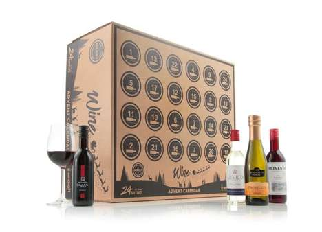 Sommelier Countdown Kits - Virgin Wines' Christmas Wine Countdown Includes 24 Bottles