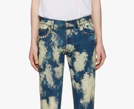 Studded Bleached Pants