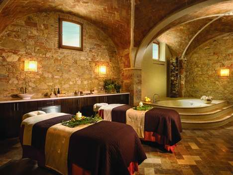 Beautifying Red Wine Baths - 'Castello di Casole' Offers a Spa Treatment Based Around Wine