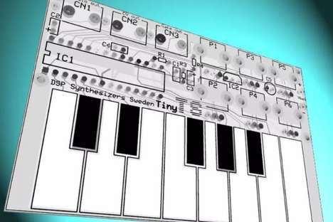 Small-Scale Synthesizers - The Tiny TS Synthesizer is the Size of a Credit Card