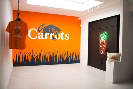 Predatory Carrot-Colored Streetwear - 'Rare Panther' and 'Carrots' Joined to Create a Capsule Series