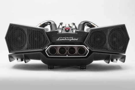 Supercar Exhaust Speakers - The Lamborghini EsaVox by iXoost Car Speaker Pumps Pure Audio Bliss