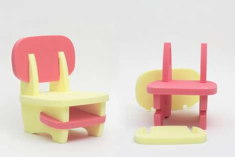 Modular Playtime Chairs - The 'Mori' Child Chairs are Intended to be Customized by Kids