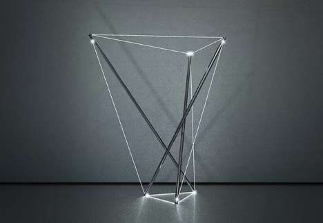 Suspended Cable Illuminators - The '3S9T' Art Lamp Refracts Light Through Tensile Cables