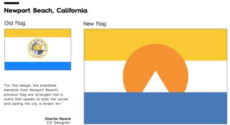 City Flag Redesigns - Column Five Created a Series of Revamped and Simplified Urban Flags