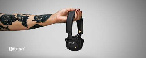 Amplifying Audiophile Headphones - The Marshall MID Bluetooth Black Headphones are for Serious Fans
