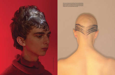 Curious Hairstyle Editorials - Man About Town Magazine Collaborated with Gary Gill and Johnny Dufort