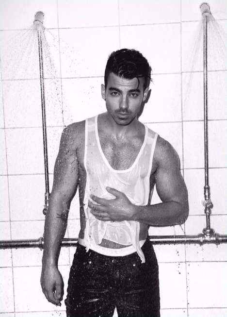 Drenched Singer Editorials - Joe Jonas Was Captured by Pantelis for Notion Magazine's Latest Issue
