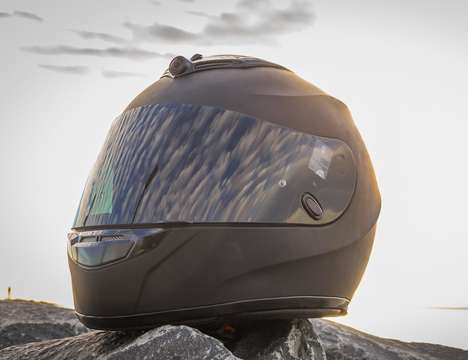 Ride-Recording Motorcycle Helmets - The 'IRIS' Motorcycle Helmet is Outfitted with Dual Dash Cams