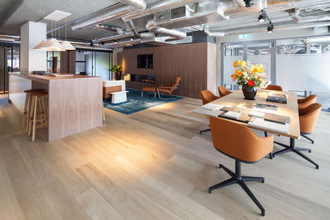 Club-Like Office Interiors - The Firm 'Dzap' Designed This Office to Look Like a Membership Club