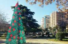 Plastic Bottle Christmas Trees - This Fake Christmas Tree Raises Awareness for the Environment