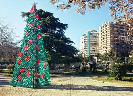 Plastic Bottle Christmas Trees - This Fake Christmas Tree Raises Awareness for the Environment