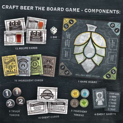 Beer-Themed Board Games - 'Craft Beer the Board Game' Involves Collecting Resources for Recipes