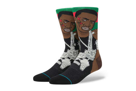 Festive Rapper Socks - These Gucci Mane Socks Feature the Rapper's Iconic Ice Cream Tattoo and More