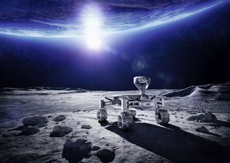 Automotive Brand Lunar Vehicles - The Audi Lunar Quattro Moon Rover is Ready for the Lunar Surface