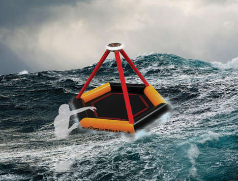 Self-Inflating Safety Rafts - The 'Guardian' Ship Lifeboat Can be Ready in Moments Notice