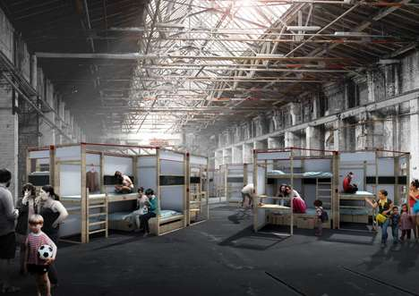 Modular Emergency Housing Projects - These Housing Kits Provide Space for Displaced People