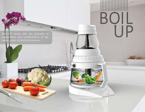 Water-Recycling Cookers - The 'Boil-up' Kitchen Cooker Saves Nutrient-Rich Water from Cooking