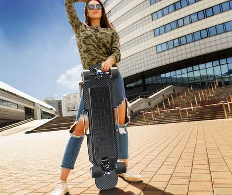 Speedy Commuter Skateboards - The 'Raptor 2' Powered Skateboards Have a Top Speed of 28mph