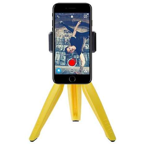 Social Media Smartphone Tripods - The 'CamKix' Mini Smartphone Tripod Works with Snapchat