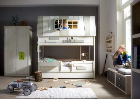 House-Inspired Bunk Beds - The Adventure Kids Bunk Bed Offers a Space to Hide and Play