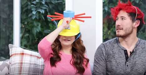 Water Helmet Challenges - YouTubers Markiplier and Rosanna Pansino Created the 'Wet Head Challenge'
