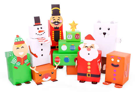 Holiday Character Gift Wrapping - These Festive Gift Wraps Transform Presents into Characters