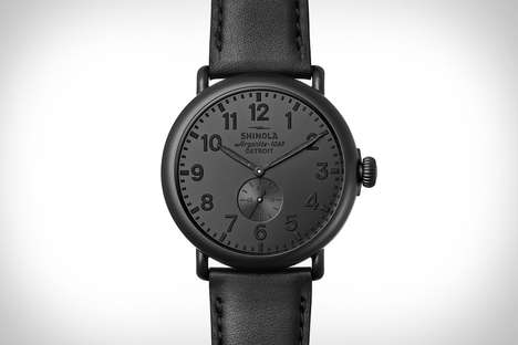 Stealth Matte Black Timepieces - The Shinola Runwell All Black Watch Features Argonite 1069 Movement