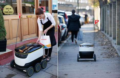 Takeout Meal Delivery Drones - Just Eat Delivered an Inaugural Takeaway Meal in Greenwich