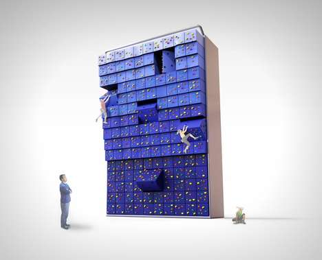 Adjustable Climbing Walls - The 'Free Climbing' Wall Shifts in Shape for Different Skill Levels