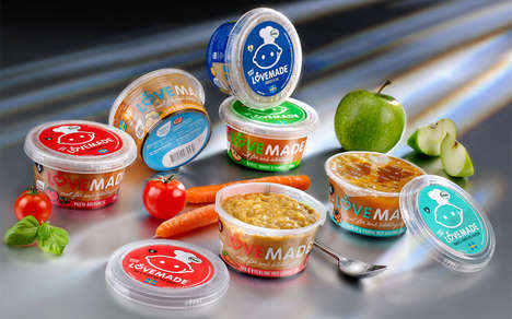 Lightweight Baby Food Packaging - The Lovemade Organic Baby Food Pots are Crafted without Glass