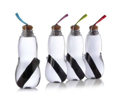 Charcoal-Filled Water Bottles - The Black+Baum Eau Good Water Bottle Comes with Binchotan Inside